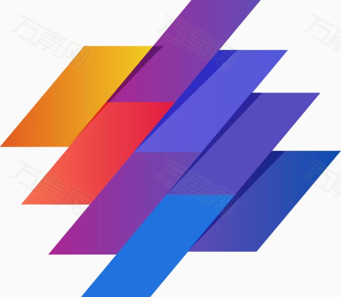 万素网提供手绘彩色长方形方块图案png设计素材,背景素材下载.