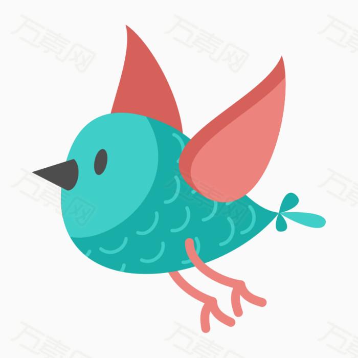 卡通可爱小鸟春天图片免费下载_卡通手绘_万素网