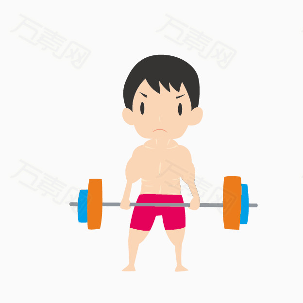 运动小人健身图片素材 举重的小人
