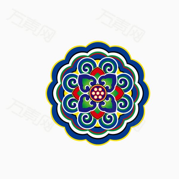 万素网 素材分类 花纹底纹 中国风 装饰 雕梁画柱