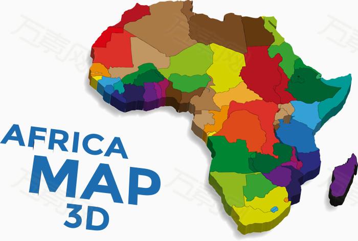 矢量图非洲地图