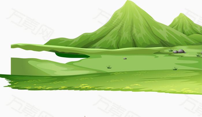 矢量手绘大山图片免费下载_卡通手绘_万素网图片