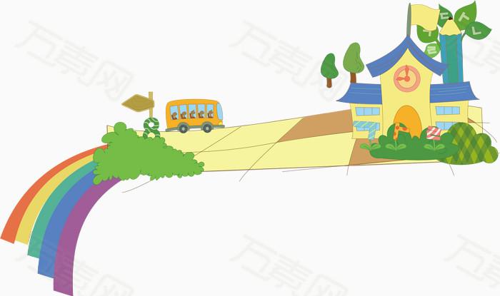 校园学习卡通海报促销素材图片免费下载_卡通手绘_万