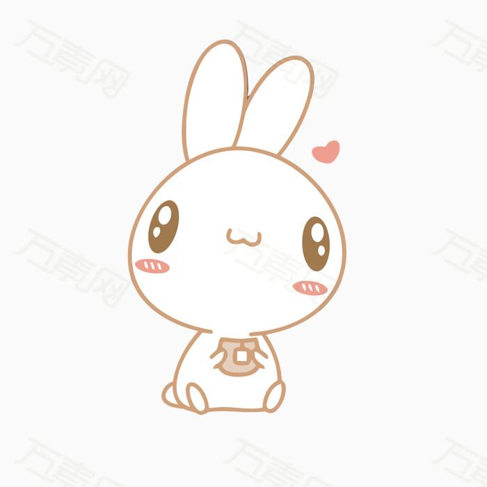兔子 可爱 爱心 大眼睛 萌萌哒 动物 免扣png素材 手绘