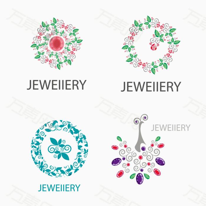 花环 项链 钻石 珠宝 创意图标 字母 logo 素材