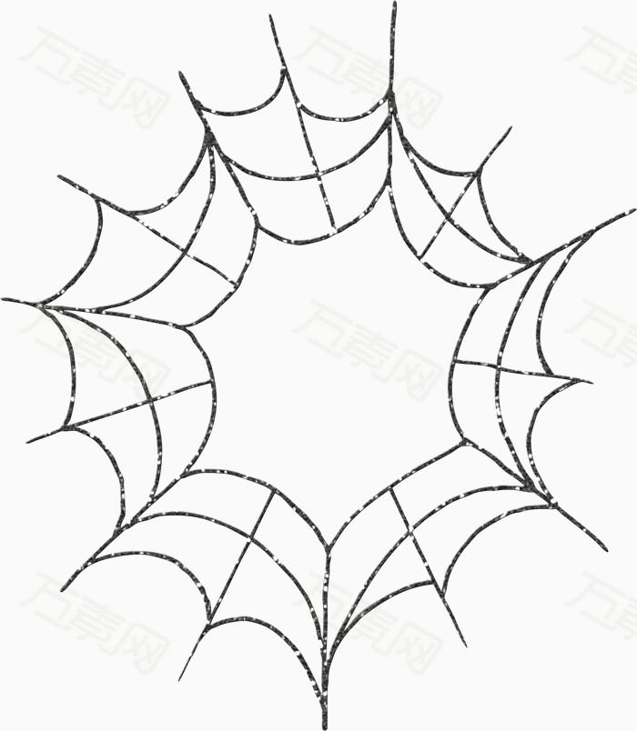 卡通素材手绘蜘蛛网图片免费下载_装饰元素_万素网
