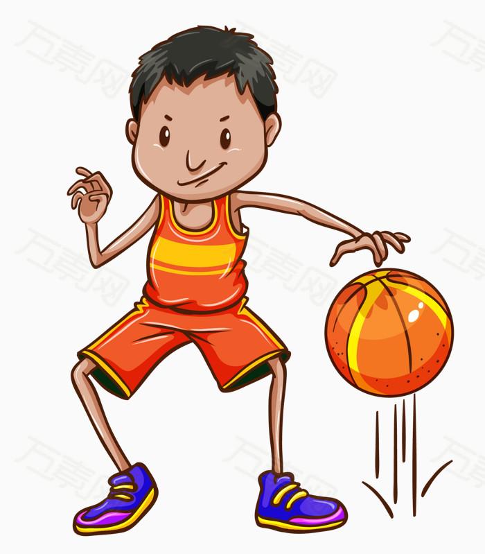 个性篮球运动员卡通素材图片
