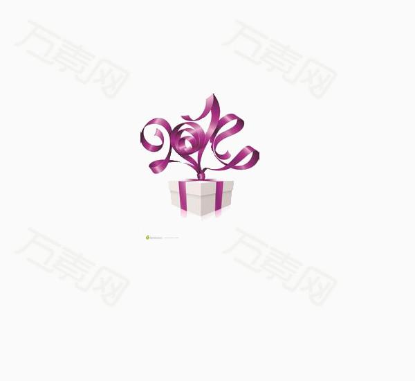 装饰元素 紫色扎带礼盒  万素网提供紫色扎带礼盒png设计素材,背景