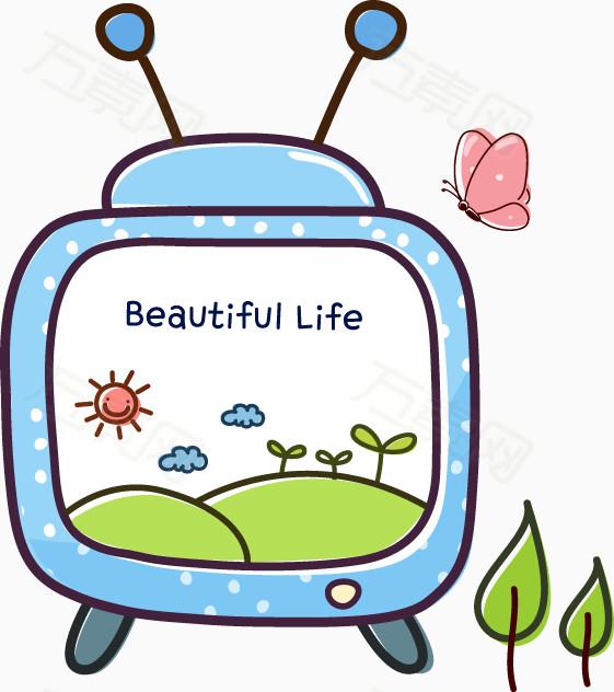 卡通版液晶电视机 卡通版老鼠图片