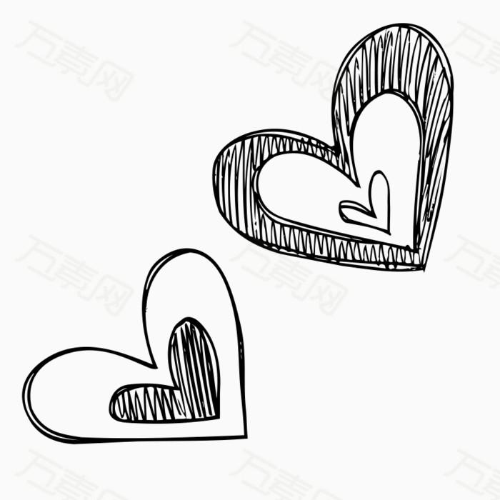 卡通心形爱心手绘图片免费下载_卡通手绘_万素网