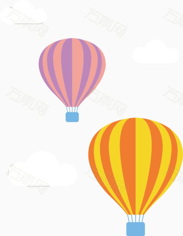 万素网 素材分类 卡通热气球  万素网提供卡通热气球png设计素材,背景