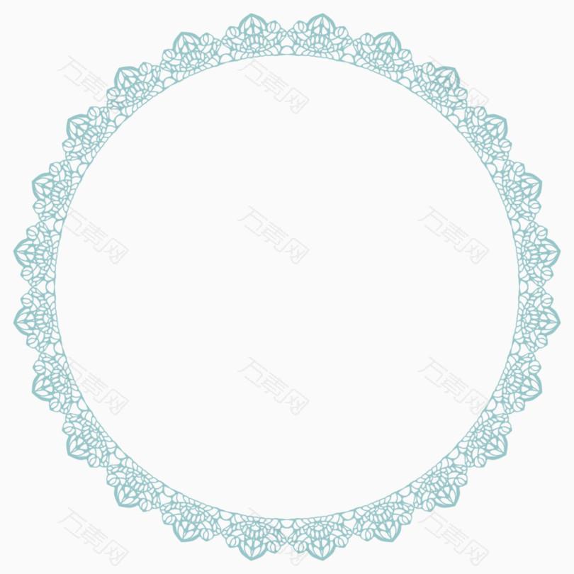 欧式圆形复古花纹图案边框