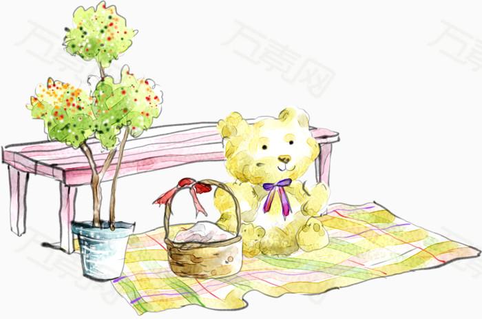 卡通手绘小熊