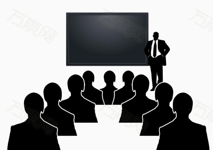 开会的职业人物                 万素网提供开会的职业人物png设计