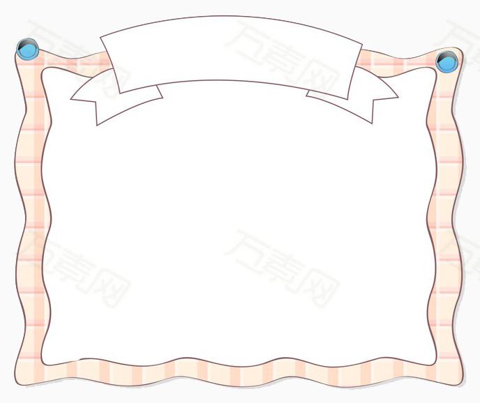 边框 横幅 可爱边框 手绘 条纹