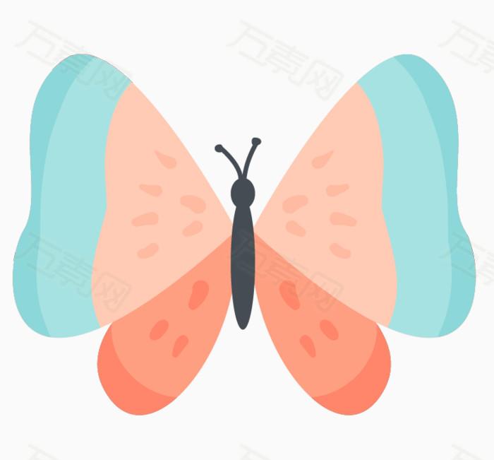 卡通动物 手绘蝴蝶 卡通蝴蝶 可爱蝴蝶 蝴蝶 动物