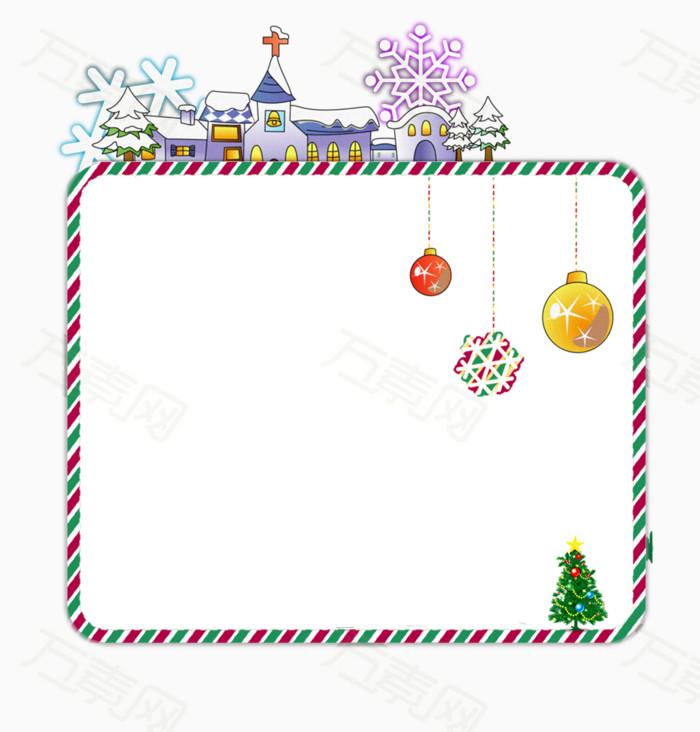 卡通圣诞节产品边框