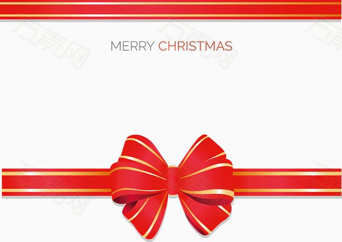 万素网 素材分类 圣诞彩带矢量图