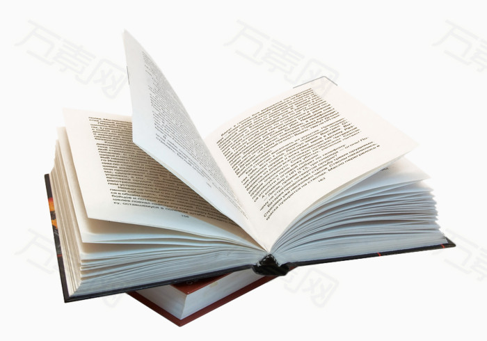 翻开的书本集
