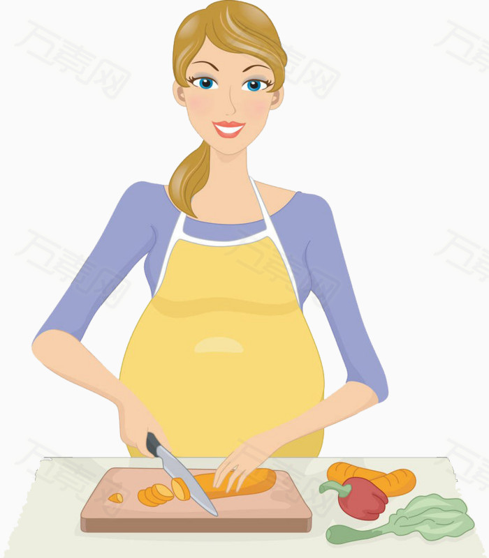 妈妈做饭图片免费下载_卡通手绘_万素网