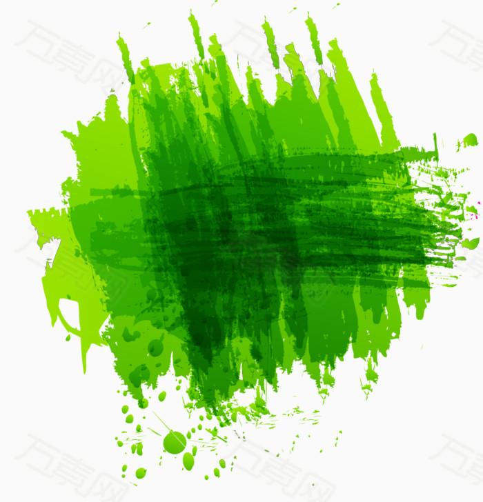 彩绘绿色笔墨图片免费下载_卡通手绘_万素网