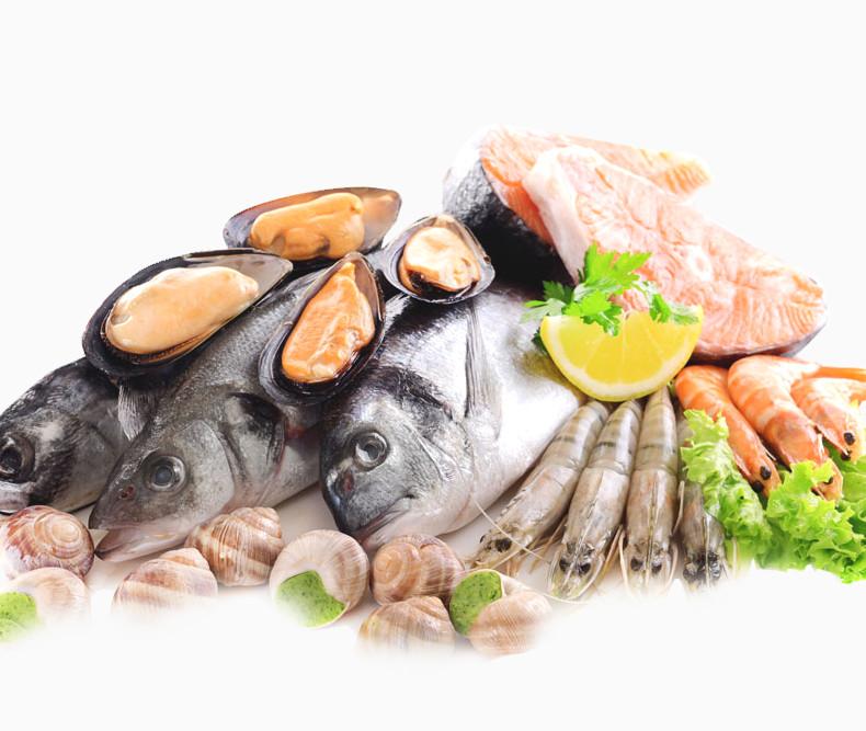 产品实物海鲜鱼虾生鱼片蛤蜊