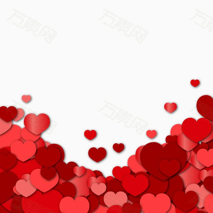 红色爱心围绕背景  14859 万素网提供红色爱心围绕背景png设计素材,背