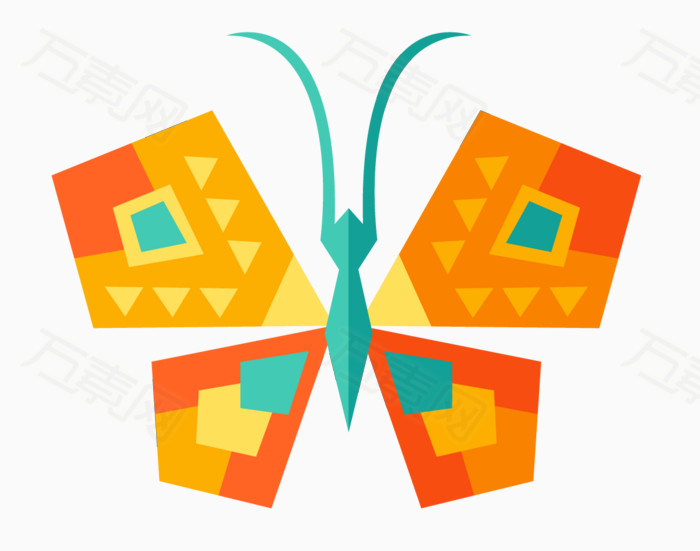卡通彩色蝴蝶图片