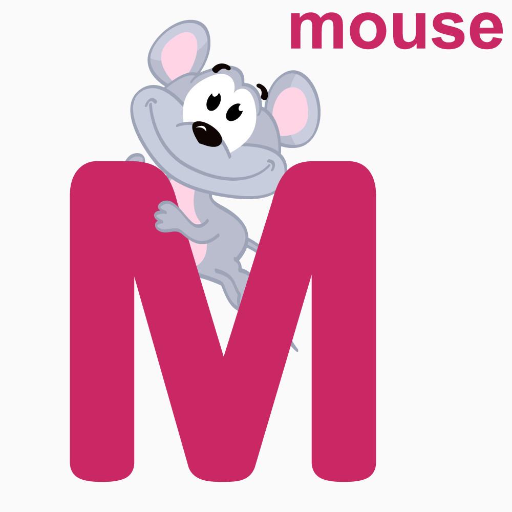 看图识字字母M