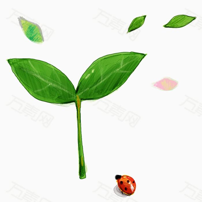 绿色小树苗                 万素网提供绿色小树苗png设计图片