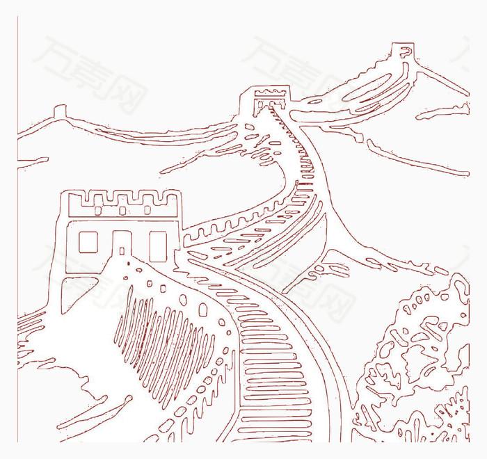 长城画法步骤图画