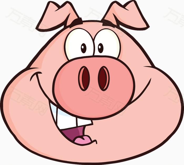 卡通猪头图片免费下载_卡通手绘_万素网