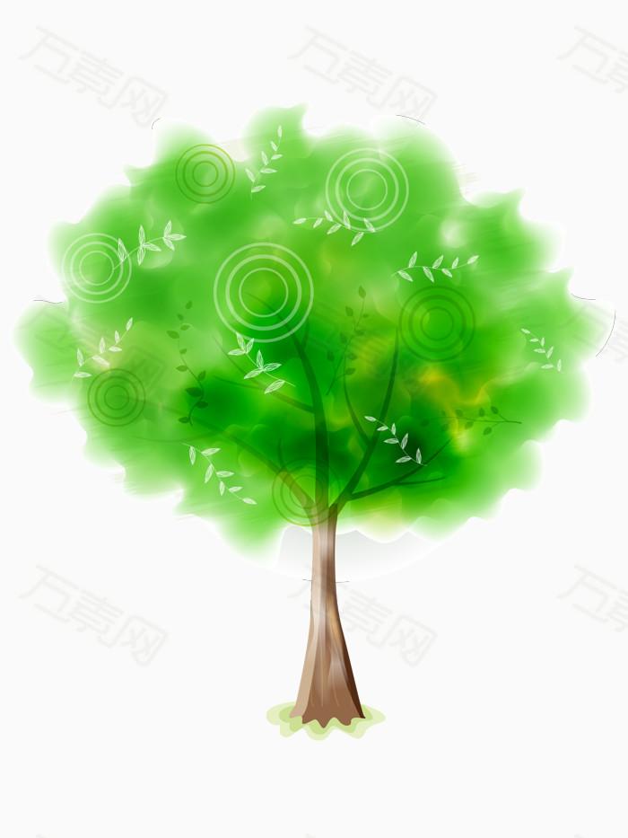 春天绿树矢量素材