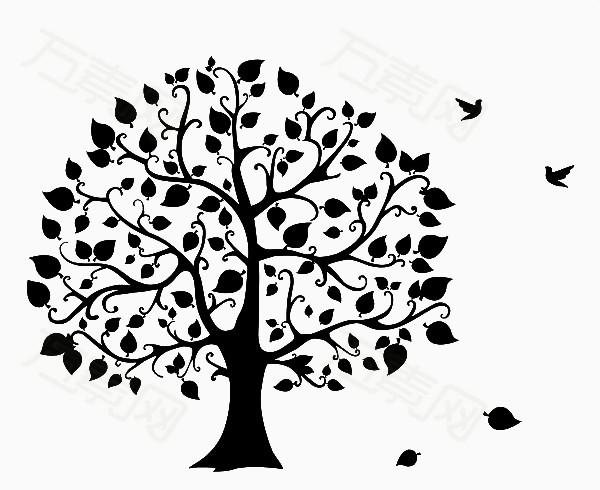 黑白手绘树图片免费下载_卡通手绘_万素网