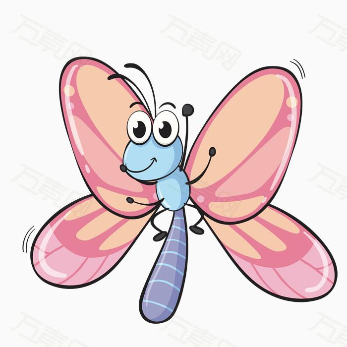 卡通 手绘 蝴蝶 动物 可爱 素材 彩色