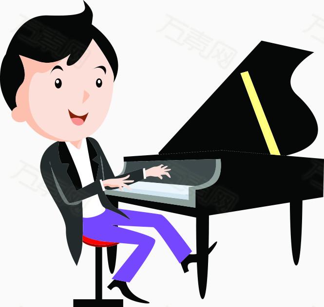 卡通钢琴师