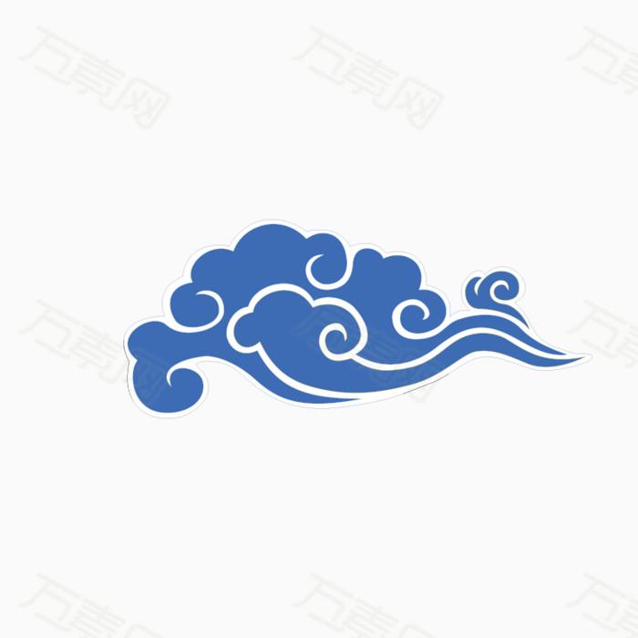 祥云 中国风 蓝色   云朵