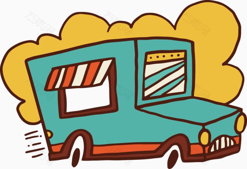 卡通餐车图片