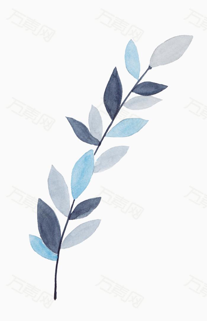 手绘叶子图片免费下载_卡通手绘_万素网