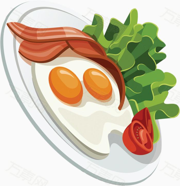 早餐食物卡通手绘图标元素