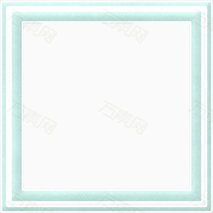 万素网 素材分类 蓝色漂亮方框