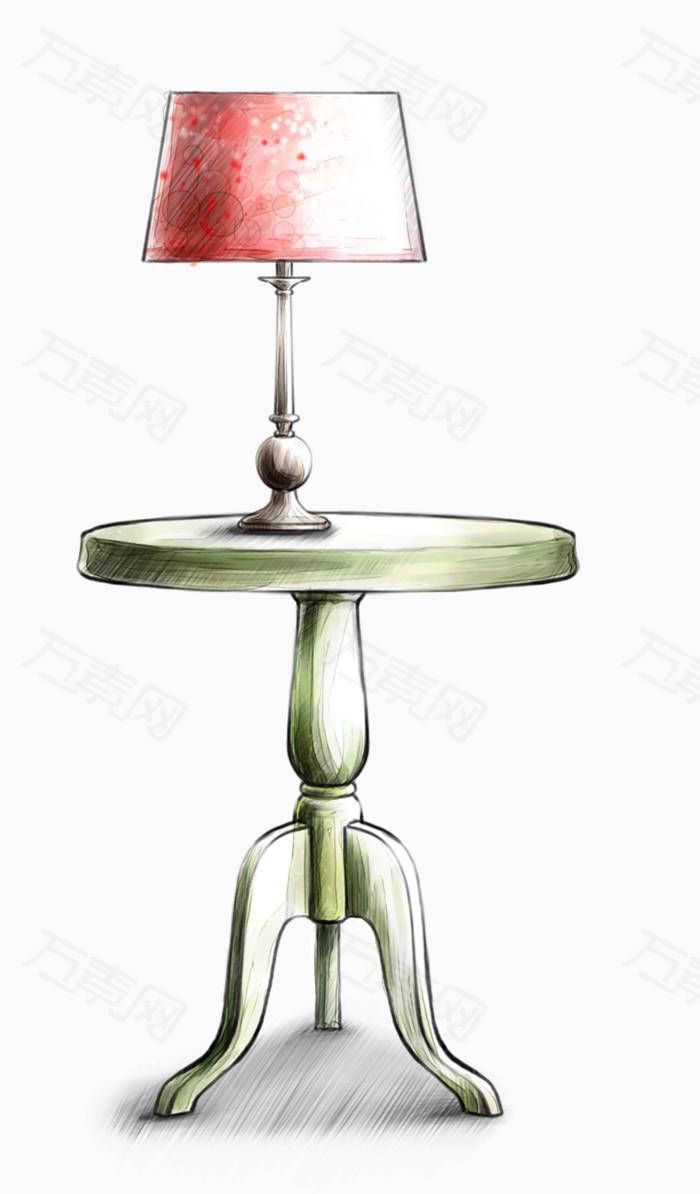万素网 素材分类 清新手绘台灯  万素网提供清新手绘台灯png设计素材