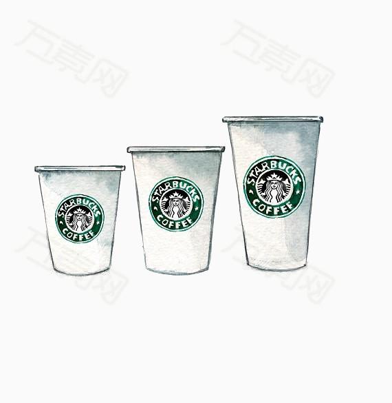 手绘星巴克杯子                 万素网提供手绘星巴克杯子png设计