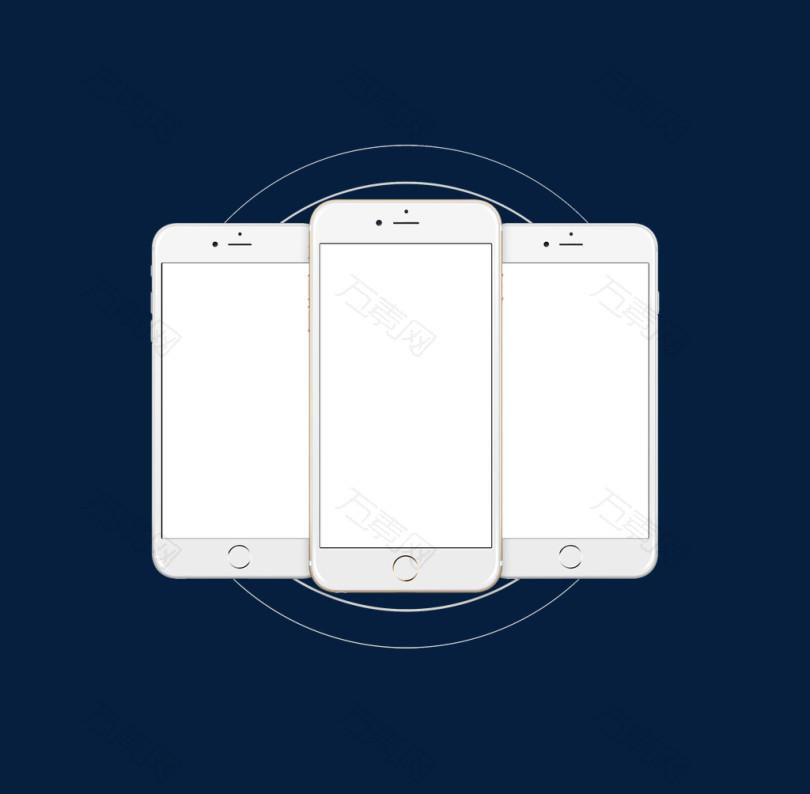 app边框白底苹果手机样机app