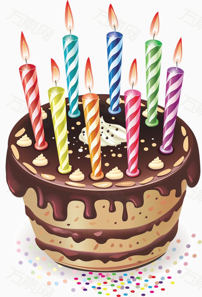 蛋糕蜡烛,红色绿色黄色,春夏秋冬,可爱
