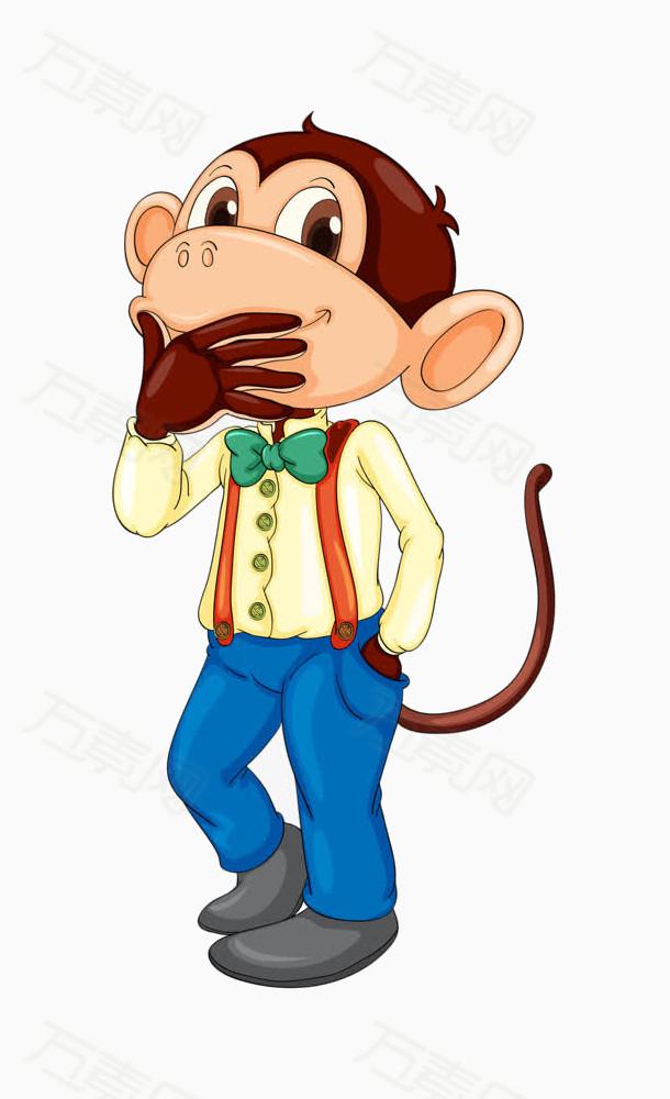 可爱的小猴子图片免费下载_卡通手绘_万素网
