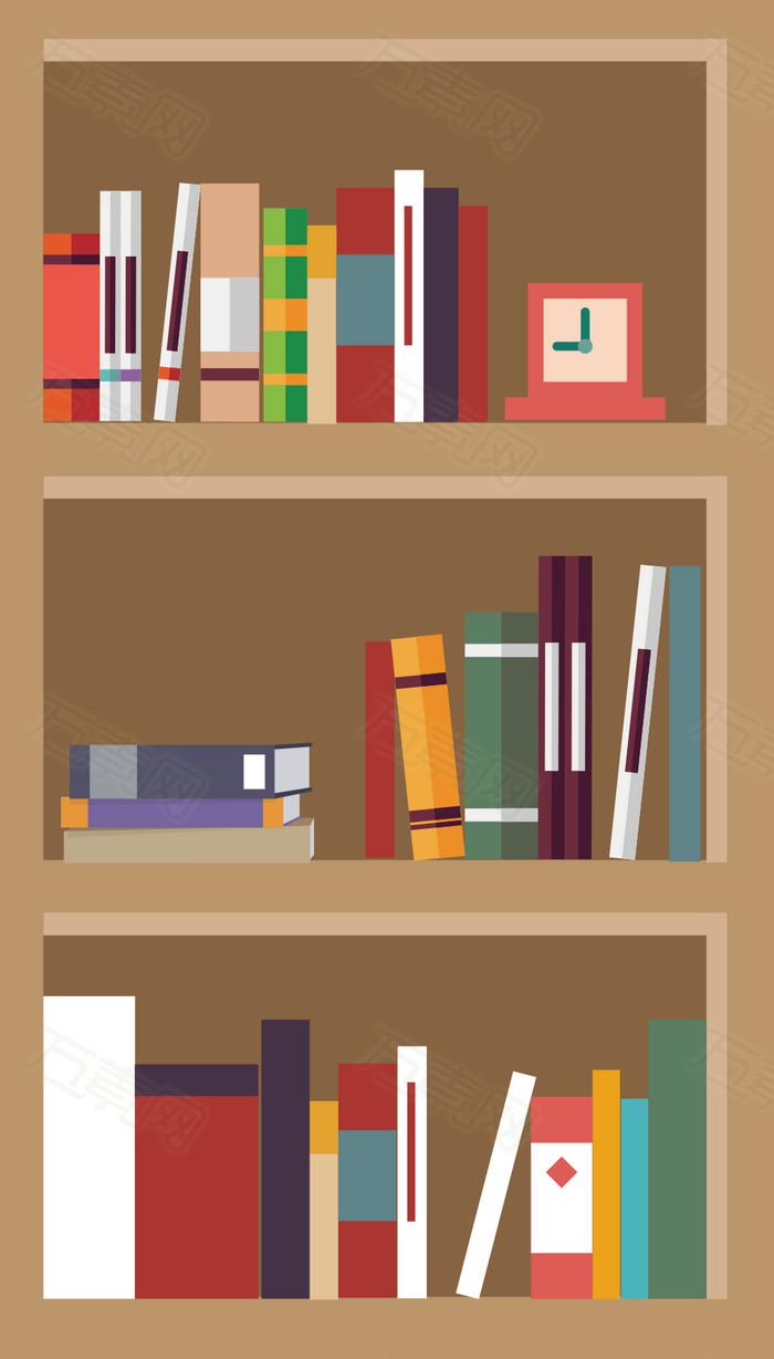 图书素材 书柜png 卡通 手绘 标志 标识 装饰图片