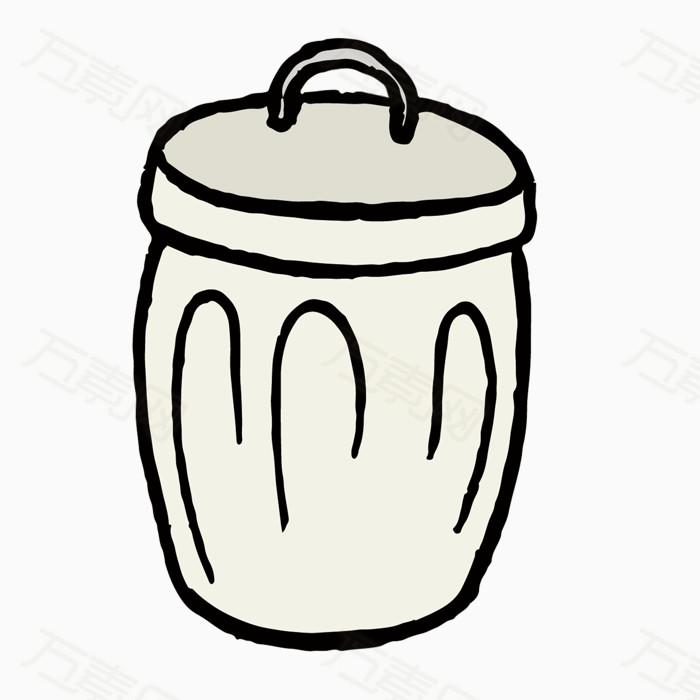 矢量手绘垃圾桶素材