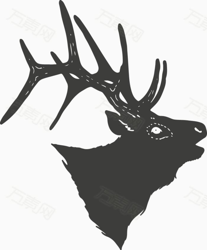 鹿头图片免费下载_卡通手绘_万素网