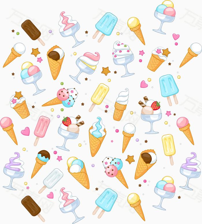 矢量卡通冰淇淋图片免费下载_卡通手绘_万素网
